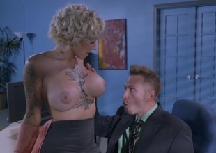 Huge tits office whore fucked until exhaustion