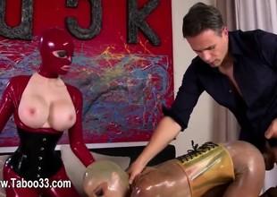 subtle BDSM act with fetish babes