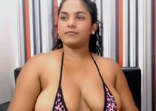 Exquisite big tits from latin babe webcam wench Monica