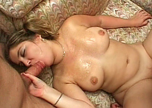 Breasty amateur girlfriend orgy with bukkake