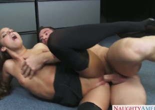 Johnny Castle is horny as hell and can not wait no more to drill fuck crazed Amirah Adaras dark hole