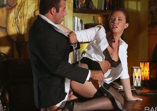 Gorgeous bitch in nylons Maddy OReilly