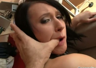 Angelica B gets used like a fuck toy by hard cocked dude in hardcore act