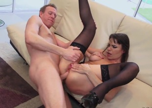 Mark Wood can not wait any longer to stick his cock in excited as hell Dana DeArmonds cornhole after this babe gives unfathomable blowjob