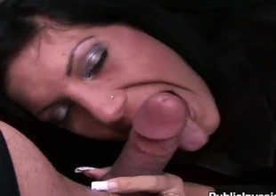Wanda keeps her face hole wide open while taking cumshot
