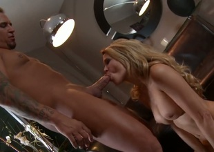 Jessica drake gets her mouth destroyed by throbbing love torpedo