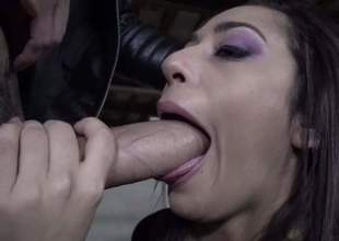 Lucia Nieto is a sexy brunette with a beautiful ass. Slut in boots bows over and gets her tiny gap gangbanged from behind by a horny guy. No thing can stop sexy stud from drilling her juicy vagina