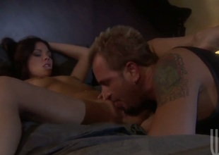 Kirsten Price enjoys the warmth of mans rock solid man meat unfathomable down her throat