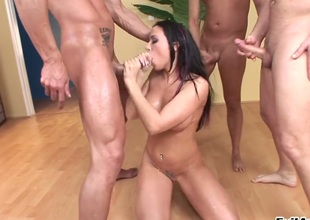Scott Lyons explores the depth of juicy Rachel Starrs throat with his rod
