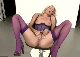 Blonde Sophie Moone gets the fun from masturbating like never before