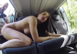 Marvelous Felicia Kiss screwed in the car