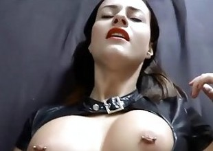 German babe fucked in tight latex