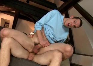 Salacious cock engulfing session with 2 gay guys