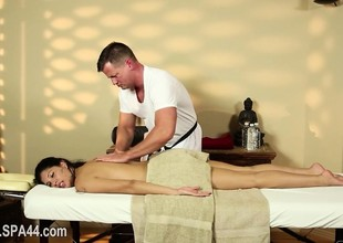 Very tricky massage room of beautiful masseur
