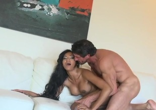 Slutty girl anally reamed by his big cock
