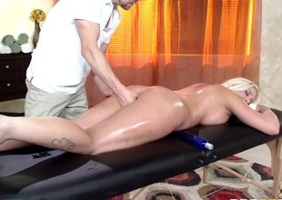 Great oil massage makes the beauty cheat