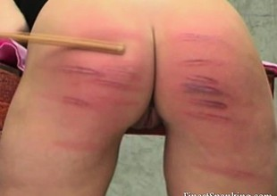 Naughty snatch gets spanked