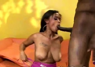 Youthful ebony juggy receives smashed by huge dark bone in parody